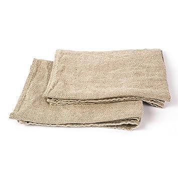 Linenme 47 x 70 cm Toallas de Lino 100 por ciento, Natural: Amazon.es: Hogar