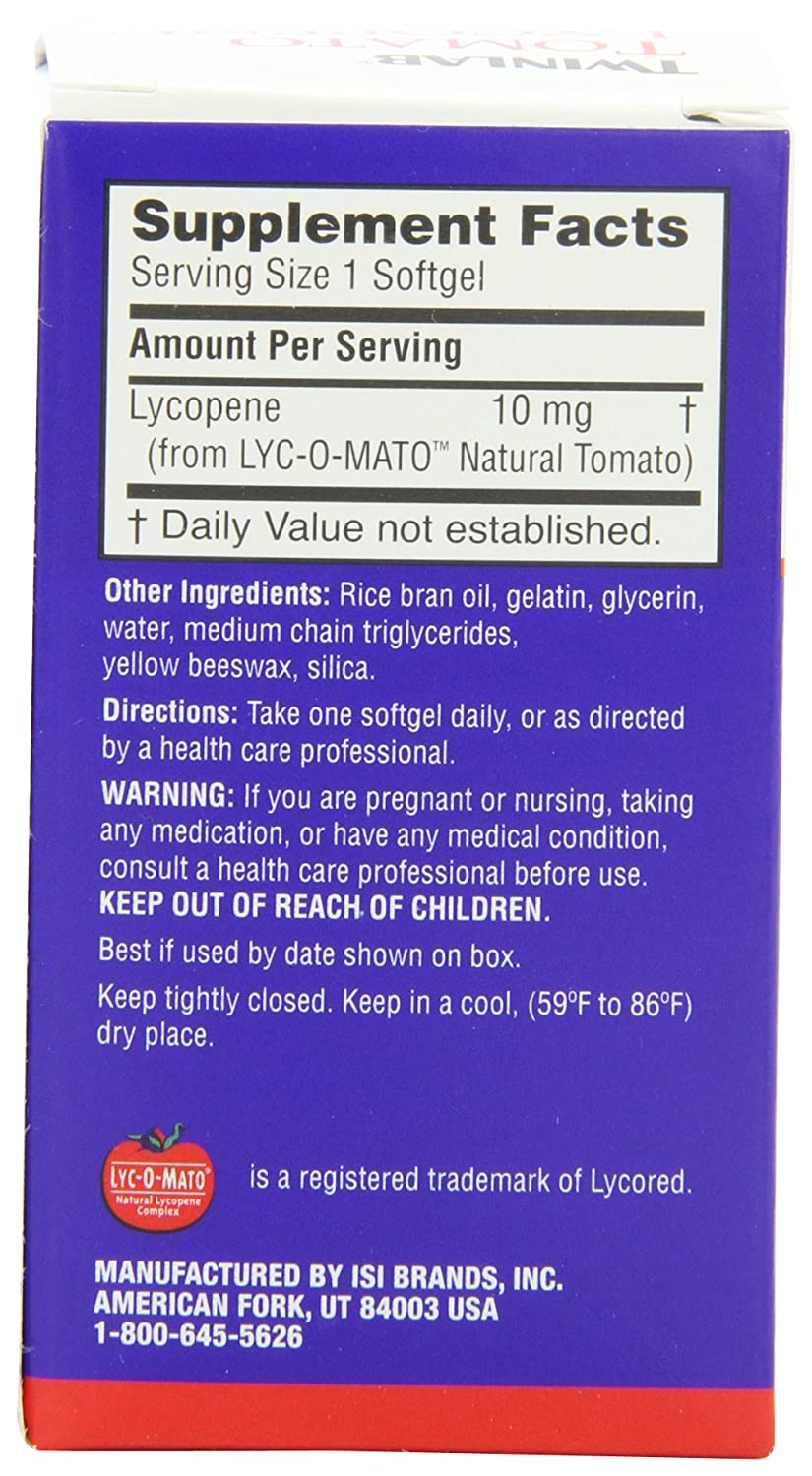 Twinlab Tomato Lycopene 60 Softgels Pack Of 2 Health Ever E Isi 30 Personal Care