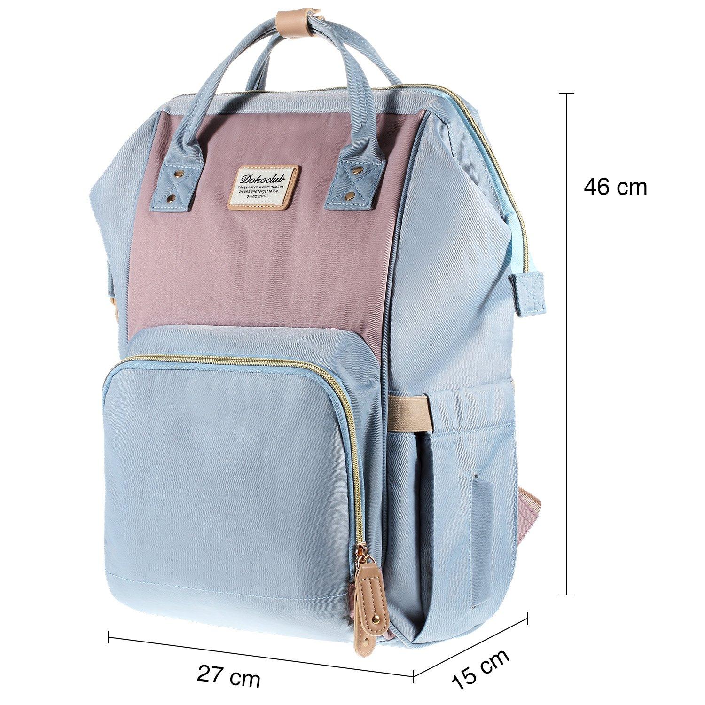 Multifunktionale Wasserdichte Wickeltasche mit gro/ße Kapazit/ät und warme Tasche Babytasche f/ür Reise Gelb//blau Baby Wickelrucksack mit 2 Kinderwagen-haken