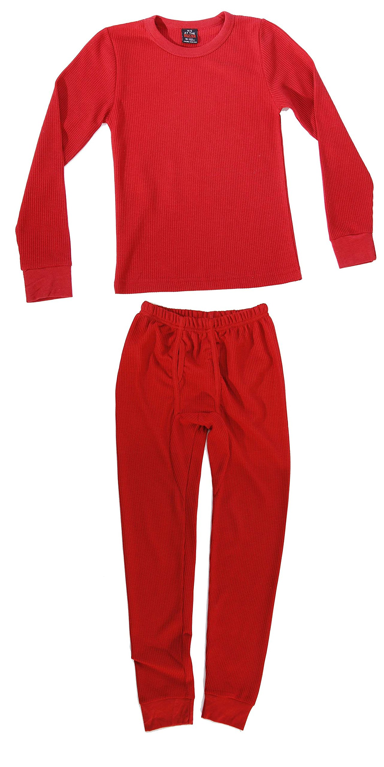 At The Buzzer Thermal Underwear Set for Boys 95362-Red-10/12 by At The Buzzer