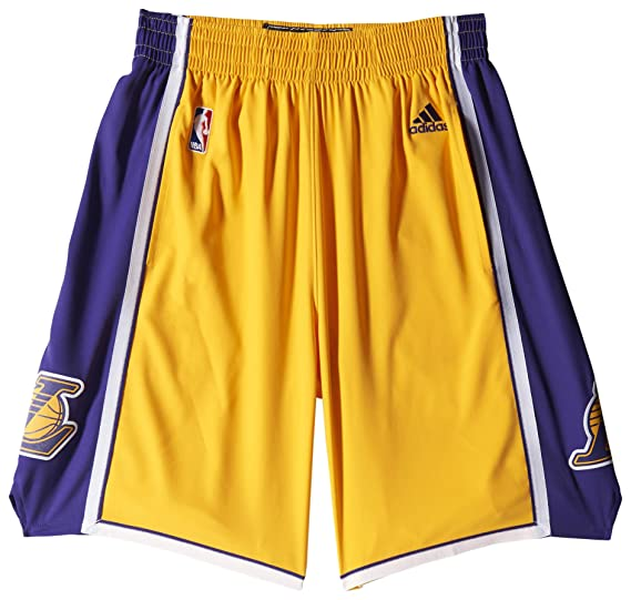 vendite speciali nuova stagione nuove foto adidas, Pantaloncini da Basket Uomo LA Lakers NBA, Giallo ...