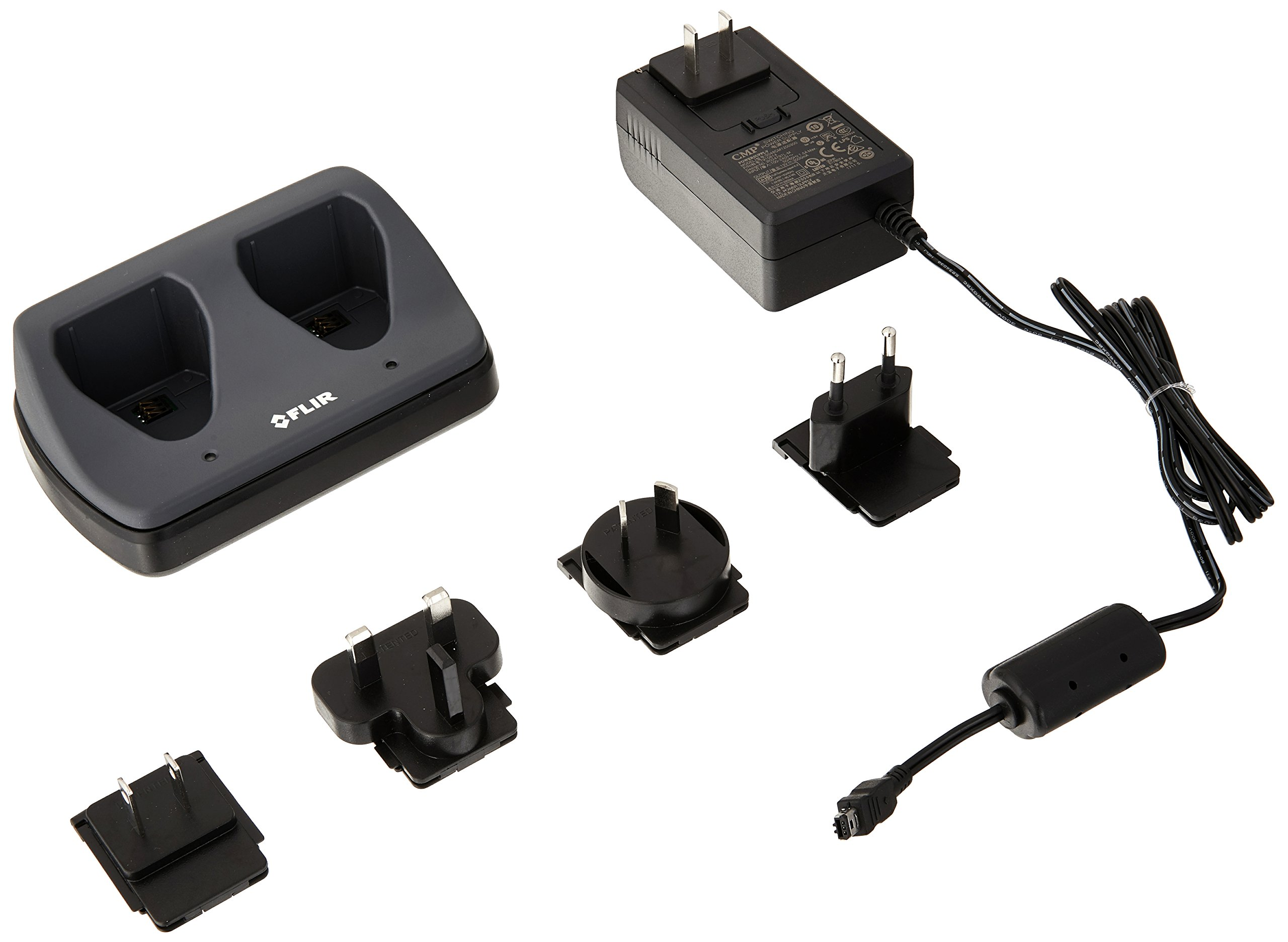 FLIR T198126 Two Bay Battery Charger for T6xx Series Thermal Cameras by FLIR