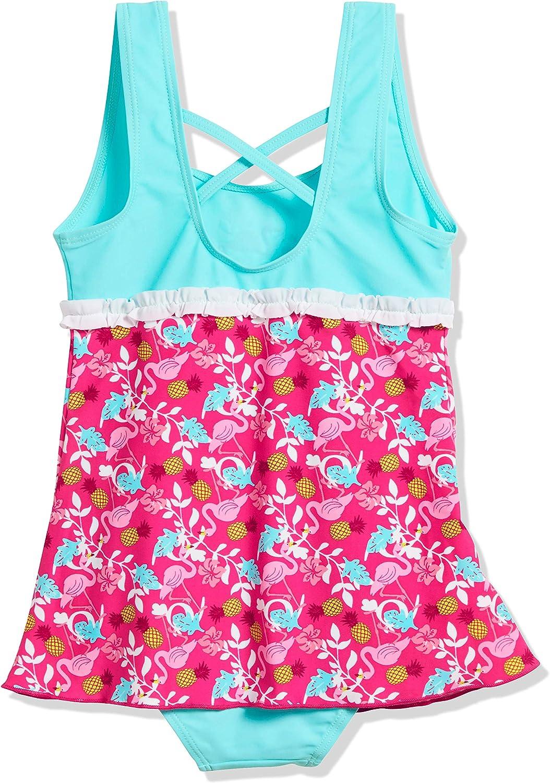 Playshoes UV-Schutz Badeanzug mit Rock Flamingo Costume da Bagno Bambina