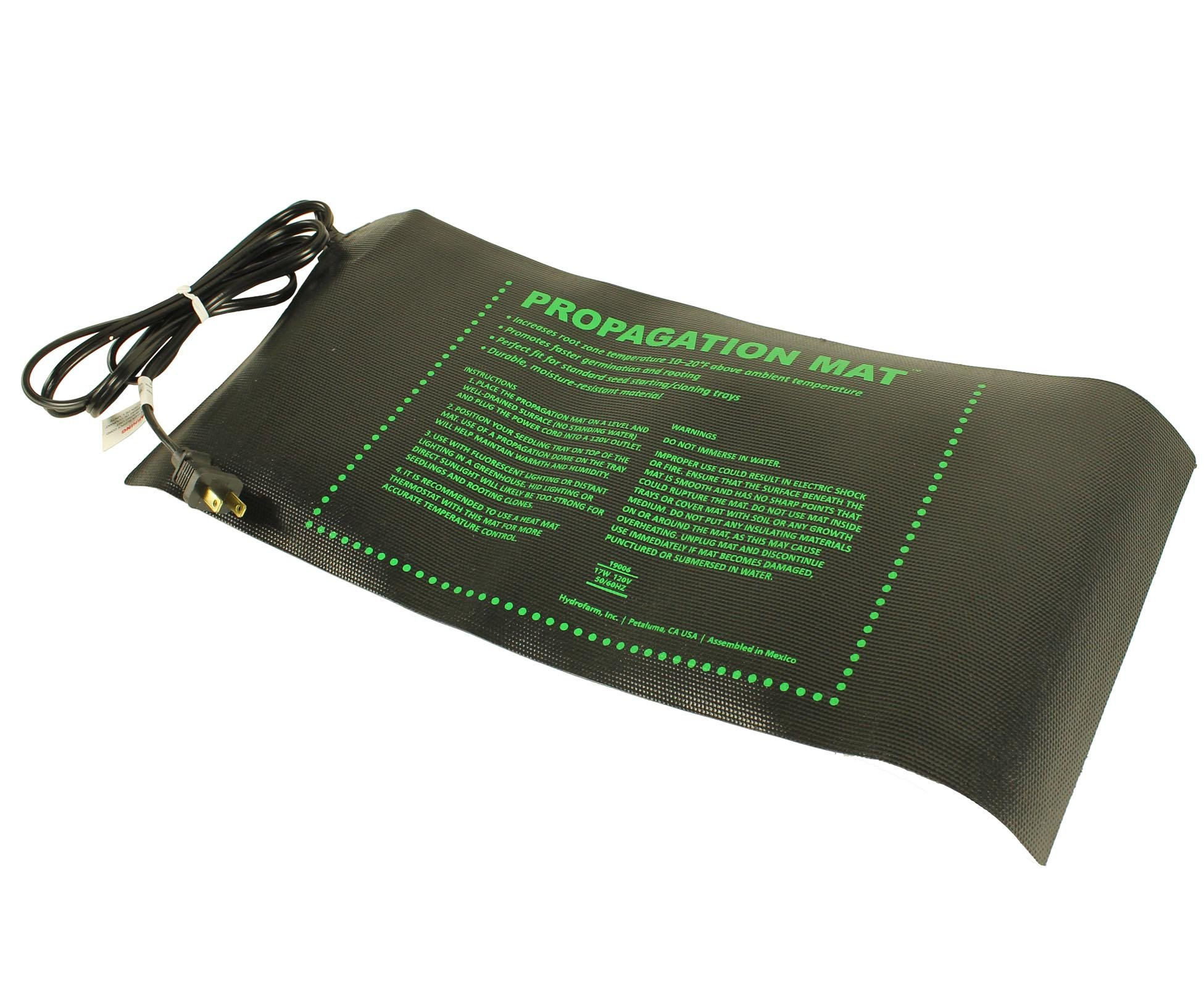 Dirt Genius Propagation Mat 17 Watt, 19006, Measures 8.88'' x 19.5'', with 6' power cord