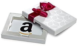 Amazon.com Gift Card in a White Gift Box (Classic White Card Design)