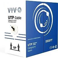 NUEVO Cable de Ethernet 152,4m CAT6/Wire 152,4m CAT-6/Direct Entierro exterior impermeable/metro ~ vivo (cable-v012)