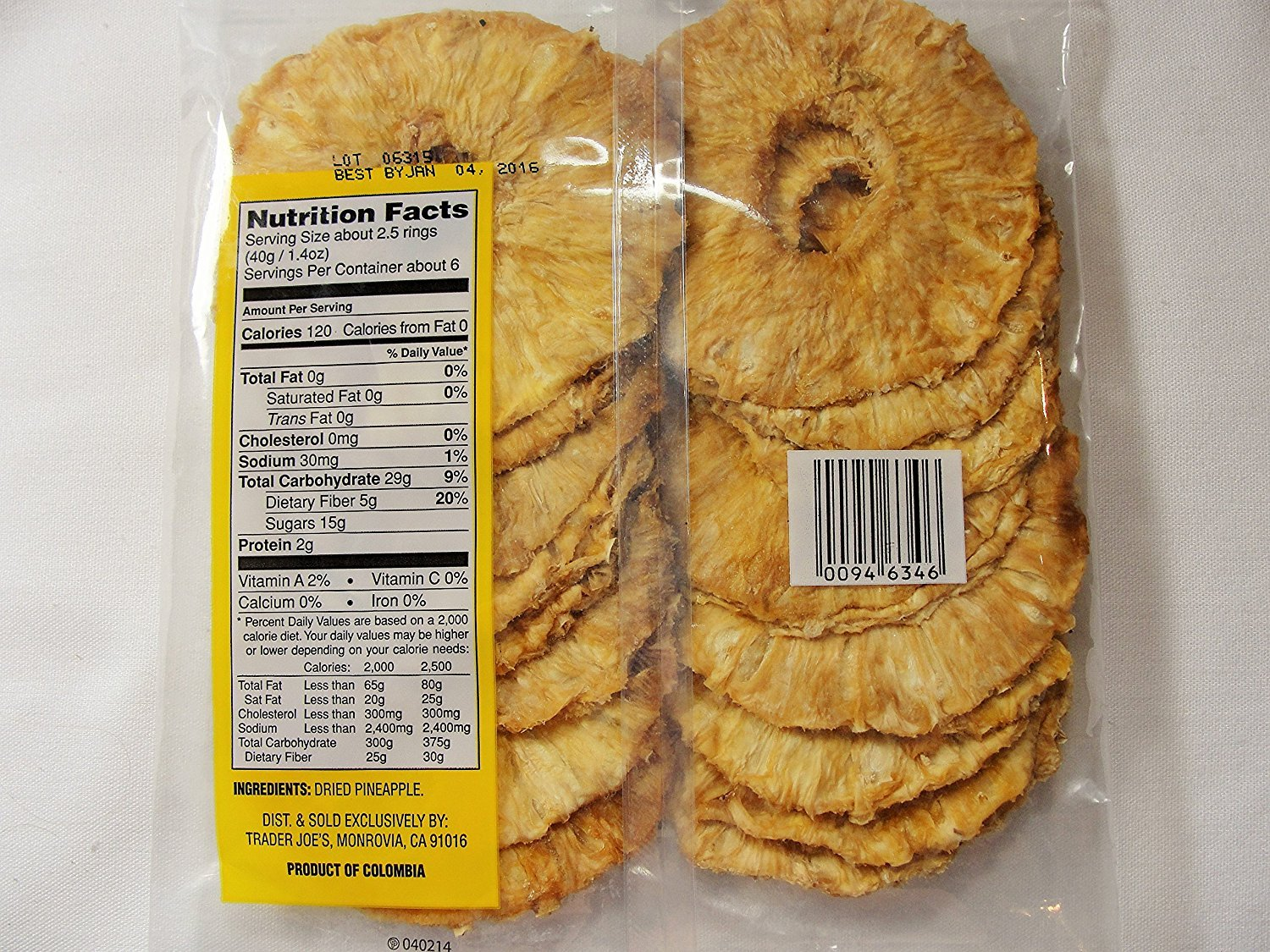 Trader Joe's Dried Pineapple Rings 8 oz ( pack of 1)
