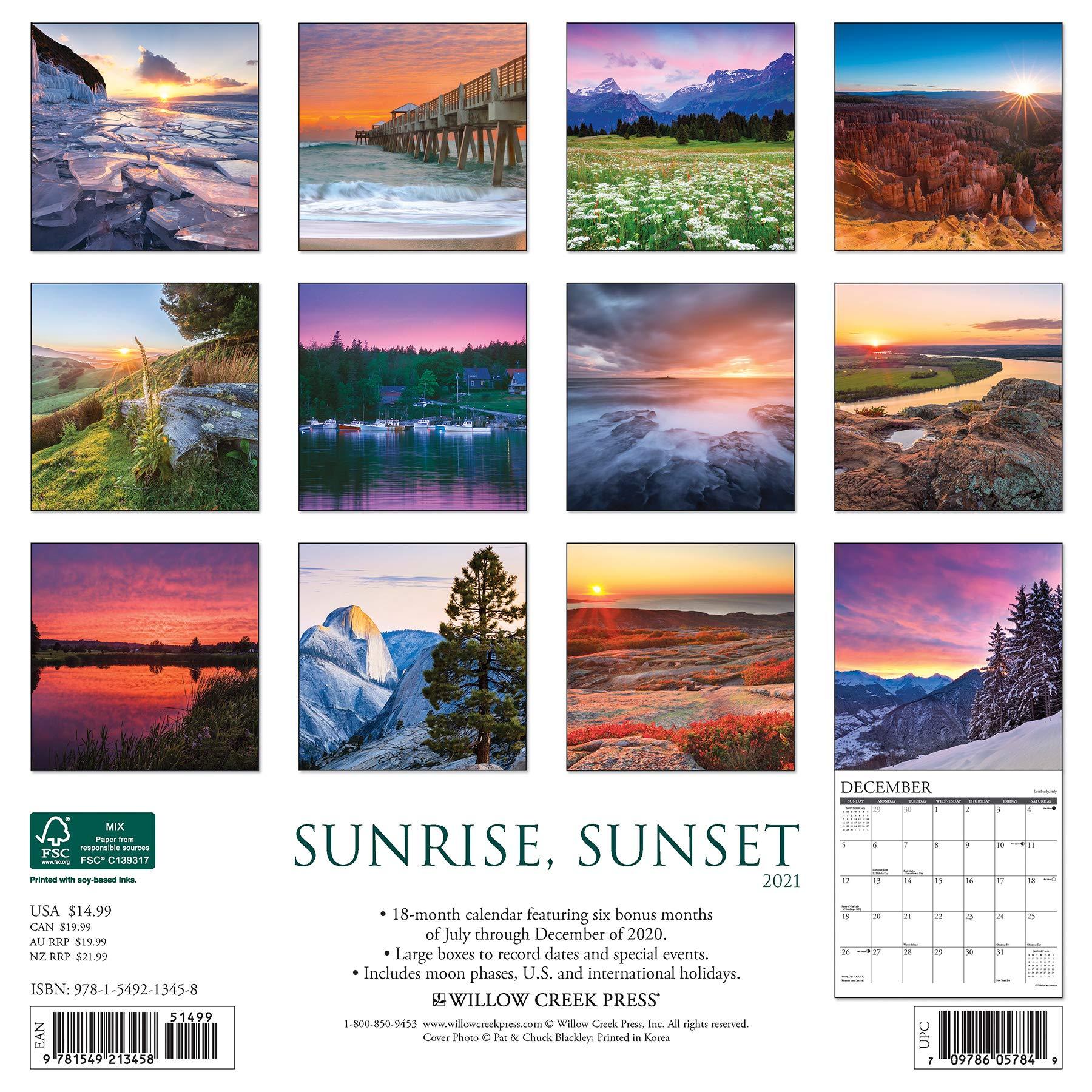 Sunrise Sunset Calendar 2022.2022 Calendar Sunrise Calendar 2021