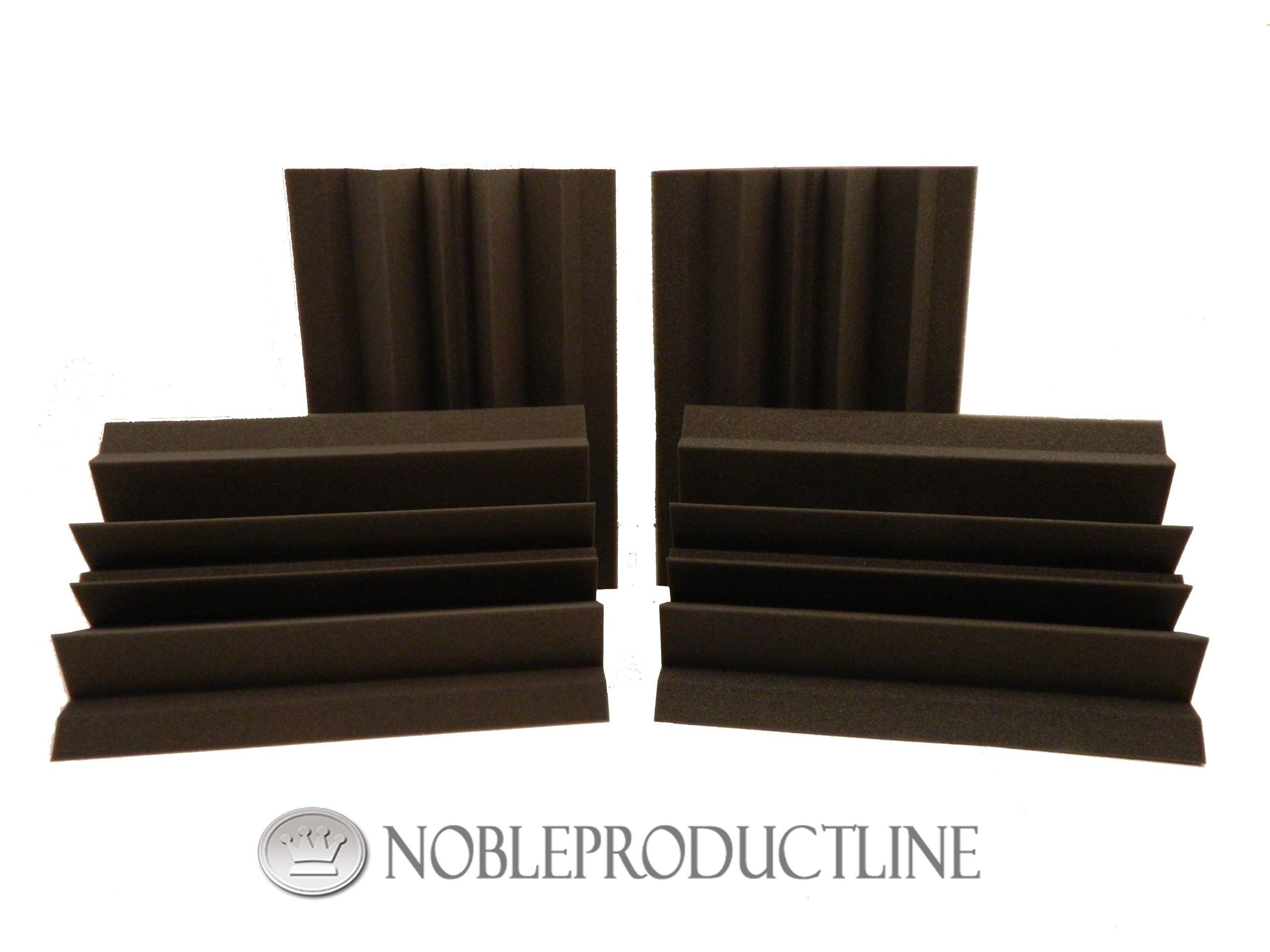 Charcoal 4 Pack Acoustic Foam Bass Traps 12 X 12 X 24 Free Shipping!!!