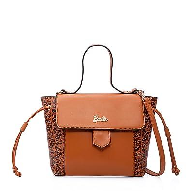 Barbie Sac à Main sac épaule bandoulière l impression Mode Elegant pour  Filles Femmes Shopping en PU   BBBFB284 (Marron)  Amazon.fr  Chaussures et  Sacs a756e543a878