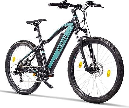 Fitifito Copenhagen Bicicleta eléctrica de montaña de 69,85 cm, E-Bike Pedelec, motor trasero 36 V 250 W Bafang, 21 marchas, mate, gris, negro: Amazon.es: Deportes y aire libre