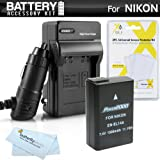 Battery And Charger Kit For Nikon D5300, D3300, D5200, P7700, D5100, D3100, D3200, Nikon Df Digital SLR Camera Includes Extended (1500Mah) Replacement For Nikon EN-EL14. EN-EL14a Battery (Fully Decoded!) + Ac/Dc Travel Charger + MicroFiber Cloth + More