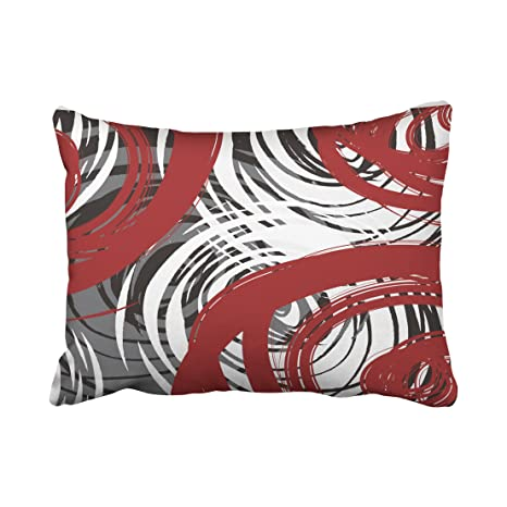 Amazon.com: accrocn fundas de almohada rojo y color blanco ...