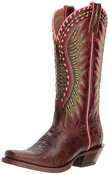 Ariat Women's Derby Western Cowboy Boot, Crackled Cafe, ...