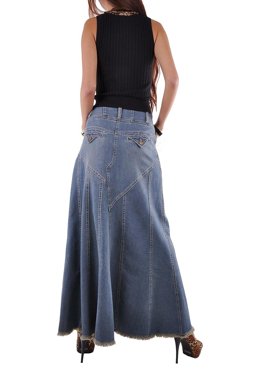 Style J Fantastic Flared Long Jean Skirt Blue 22UK 50EU 38Waist Amazoncouk Clothing