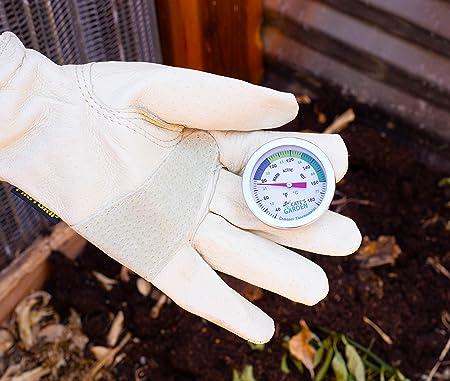 Cates Garden Termómetro de compostaje, bimetal, acero ...