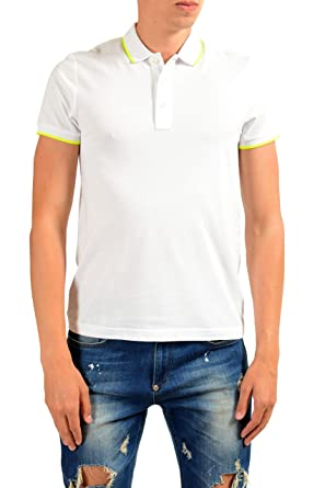 890702cba7d0b3 Image Unavailable. Image not available for. Color: Moncler Men's White Slim  Short Sleeve Polo Shirt ...