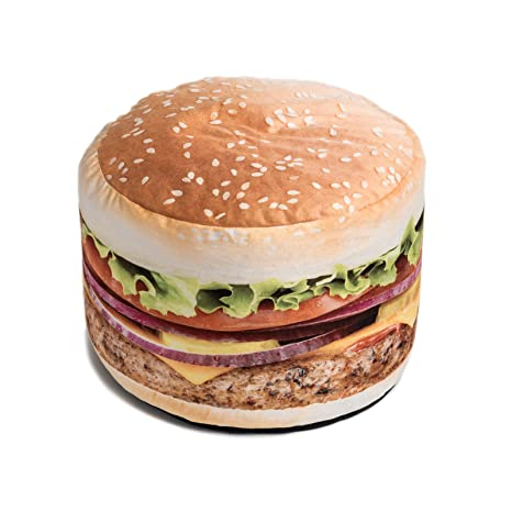 Wondrous Wow Works Hamburger Bean Bag Chair Mid Size Gmtry Best Dining Table And Chair Ideas Images Gmtryco