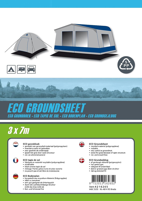 Bo-Camp Noir Tapis de sol 2,5 x 3 m/ètres Eco