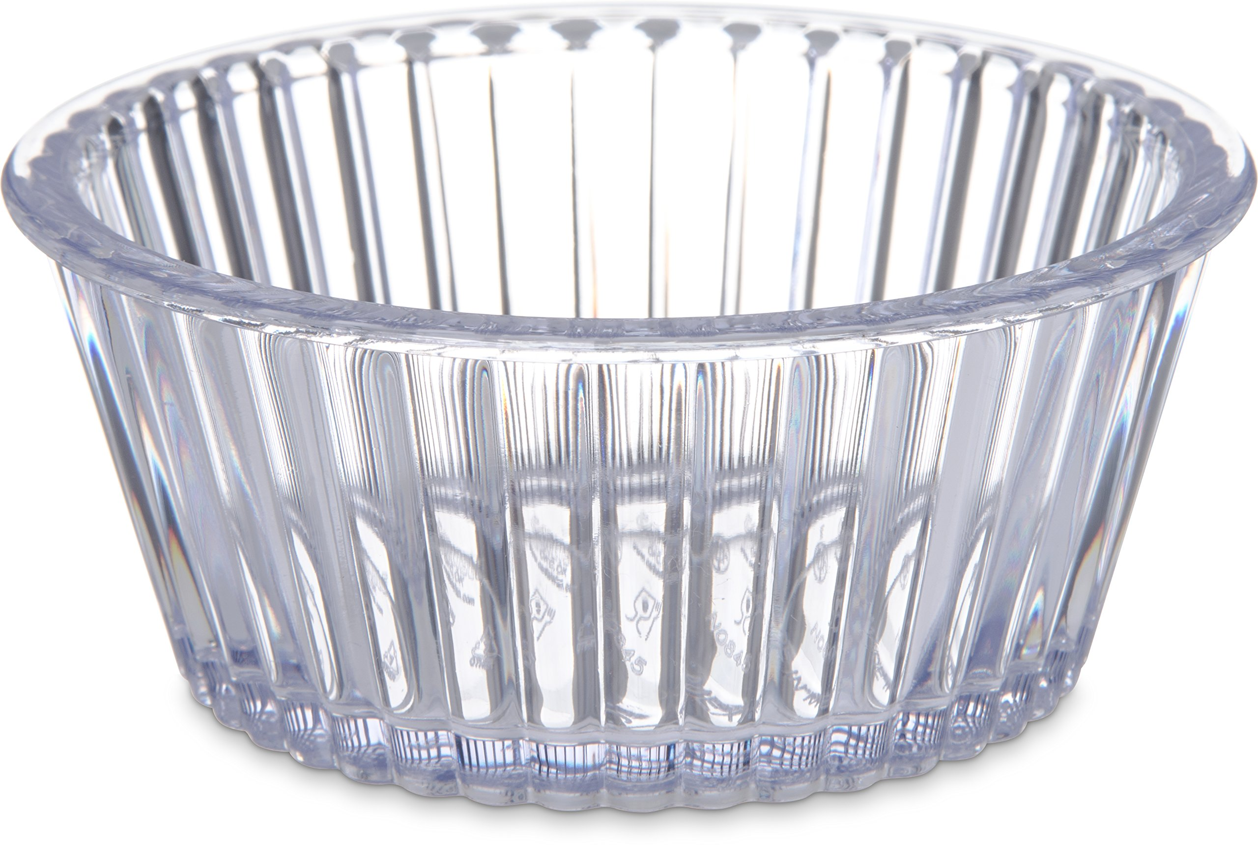 Carlisle 084507 SAN Fluted Ramekin, 4.5-oz. Capacity, 1.50 x 3.50'', Clear (Case of 48)