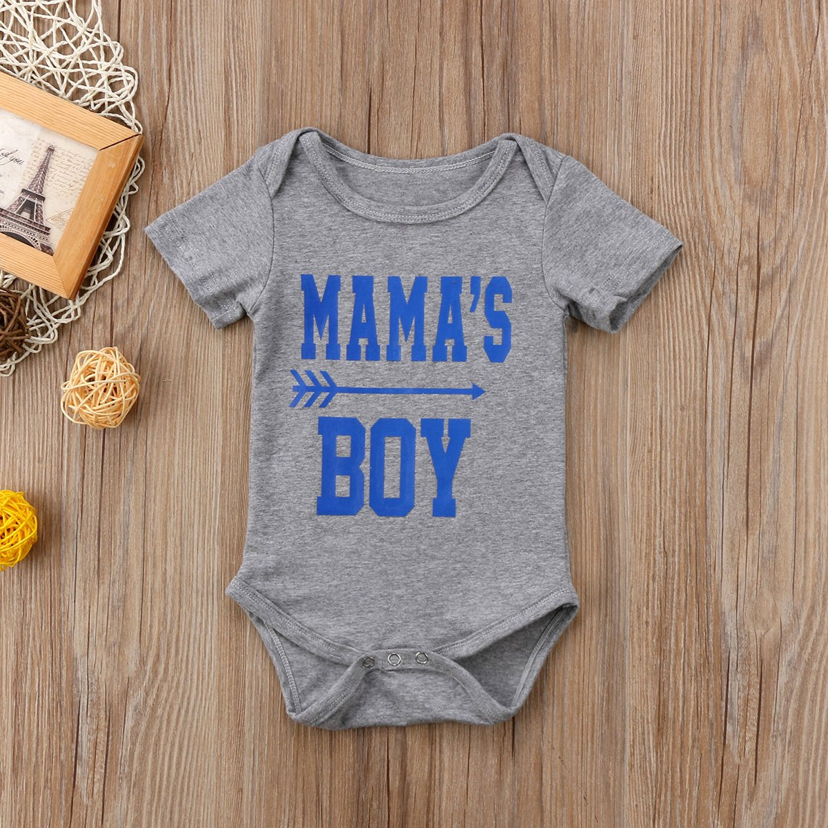 Newborn Kid Boy Girl Bodysuits Mamas Boy Summer Baby Jumpsuit Letter Clothes Cotton 2pcs Outfits for Boy 0-18Months