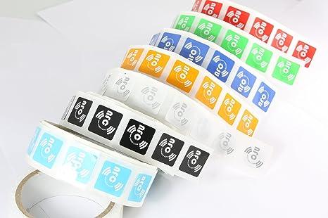 14 X NFC Tags | NXP Chip NTAG213 | memoria de 144 bytes | 7 colores | Etiquetas cuadradas y autoadhesivas | alta potencia de escaneo | diseño ultra delgado ...