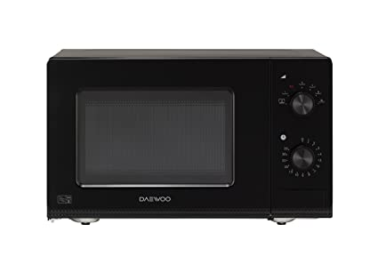 Black Daewoo Manual Microwave Oven 20 Litre Black