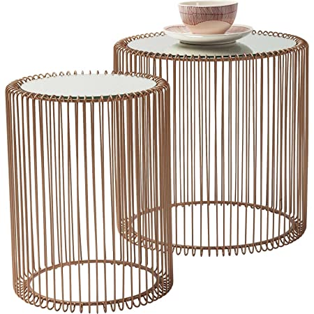 Kare side table 80199 wire copper set of 2 amazon kitchen kare side table 80199 wire copper set of 2 greentooth Images
