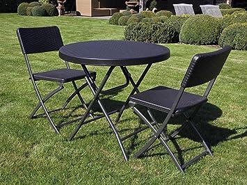 Toolland Estable y sólida Mobiliario de jardín con 2 sillas ...