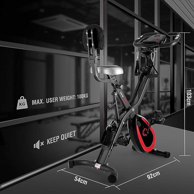 Ultrasport F-Bike 400BS Bicicleta estática Plegable, tracción ...