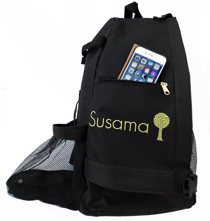 Susama Yoga & Gym Backpack: Adjustable Crossbody Sling Yoga Bag - Fits Most Large Yoga Mats – Best for hot Yoga, Pilates, Workout, Sport, Hiking, ...