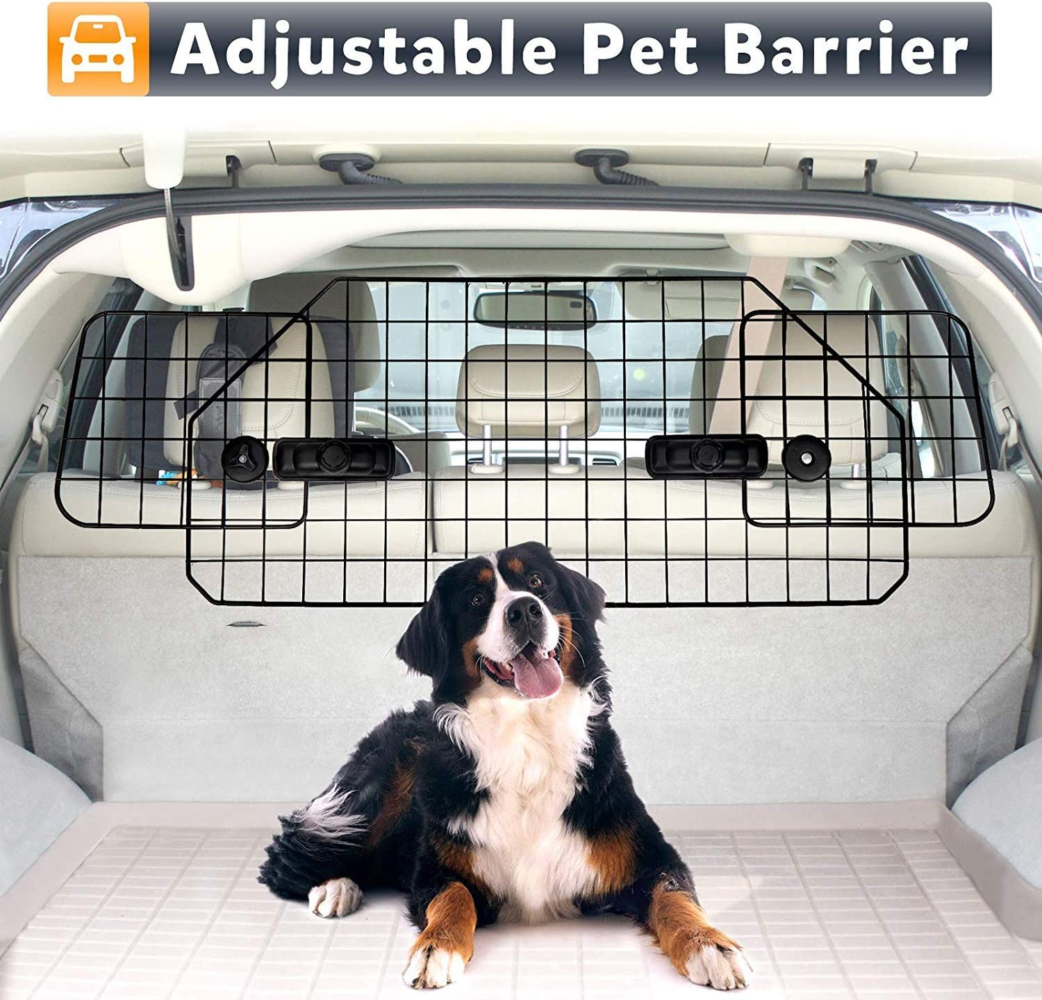 ZenStyle Dog Car Barrier Pet Fence for SUV Vehicle Cargo Jeep,Adjustable Pets Car Divider Wire Dog Gate