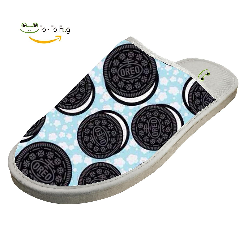 1bcd49840 ZeZe Cookies Pie Fashion Design House Cotton Indoor Slippers / Flat Shoes 7  D(M