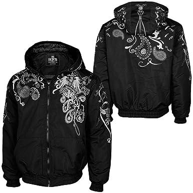 am besten verkaufen verschiedene Stile eine große Auswahl an Modellen Hoodboyz BANDANA Herren Winterjacke Schwarz