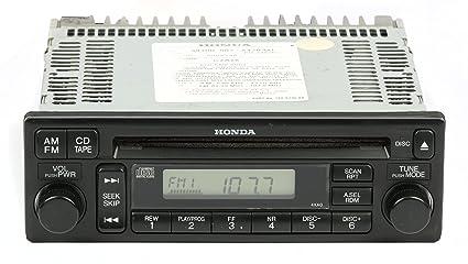 2001 Honda Accord Radio Code >> Amazon Com 2001 02 Honda Accord Am Fm Radio Single Cd
