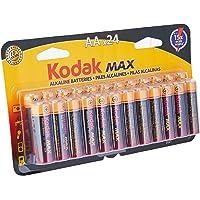 Pilha Max Alcalina AA com 24 Unidades, Kodak, 30414495