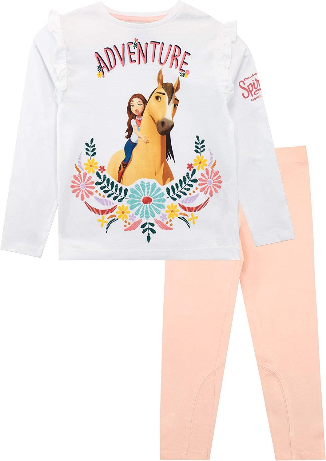 DreamWorks Camiseta y Leggings para niñas Spirit Riding Free