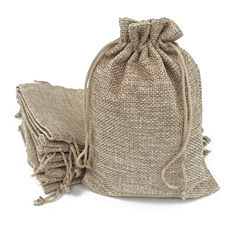 377b7ee61 Amazon.com  50PCS Burlap Bags with Drawstring Gift Jute bags Included  Cotton Lining ( 4 X5.5 Inch