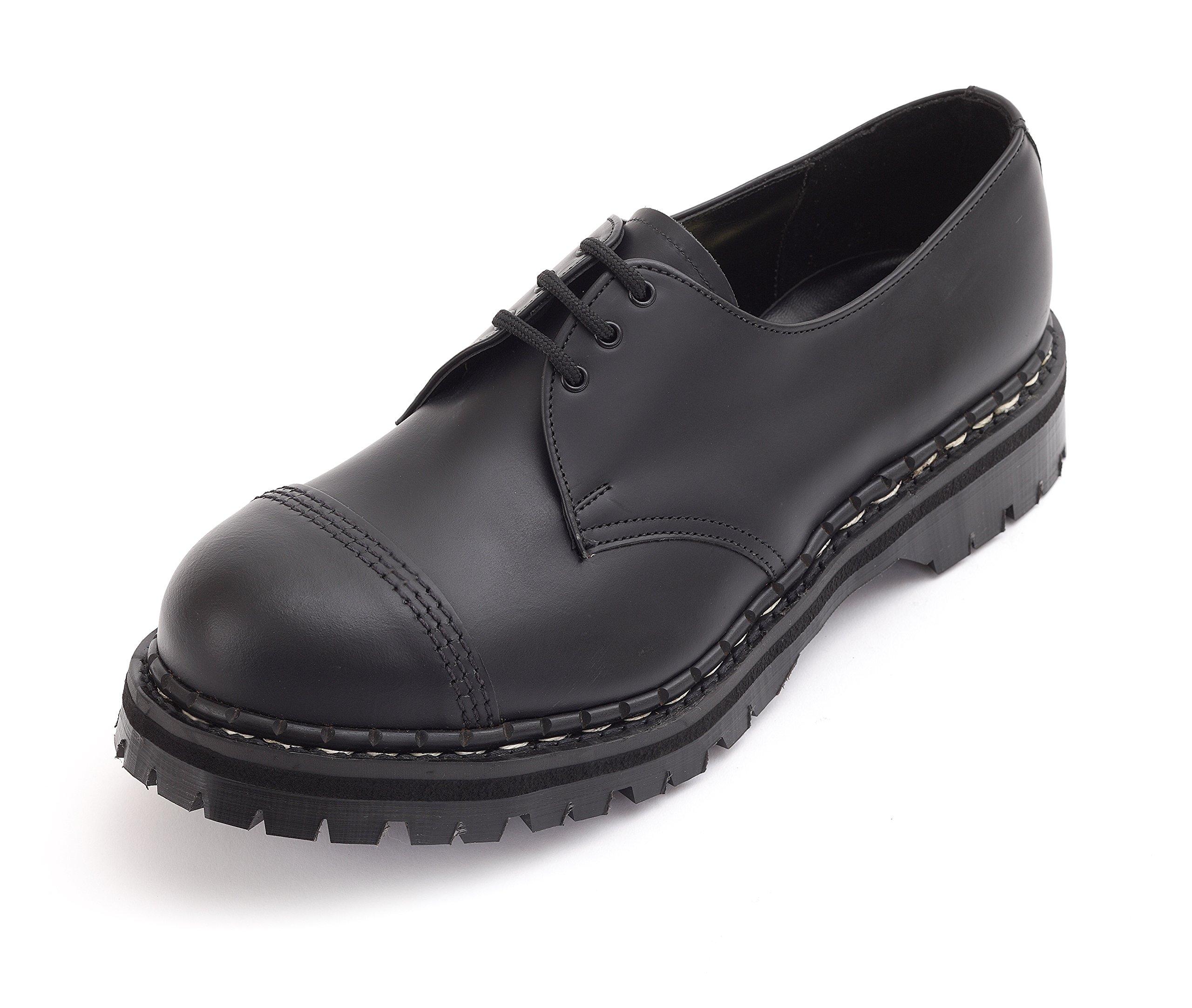 Gripfast 3 Eyelet Black Steel Toe Shoe UK 9/US 10