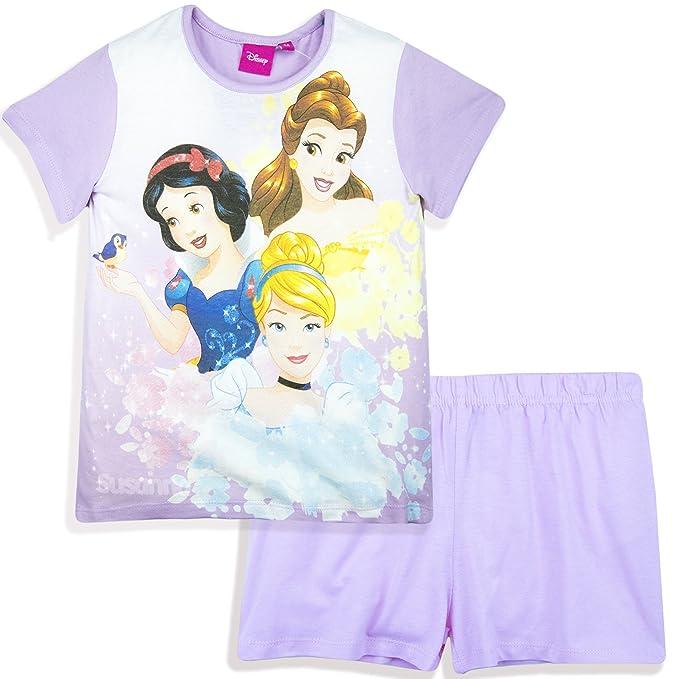 Disney Princess Girls Short Sleeve Cotton summer Pyjamas Pajamas Set Pjs 2-6 yrs