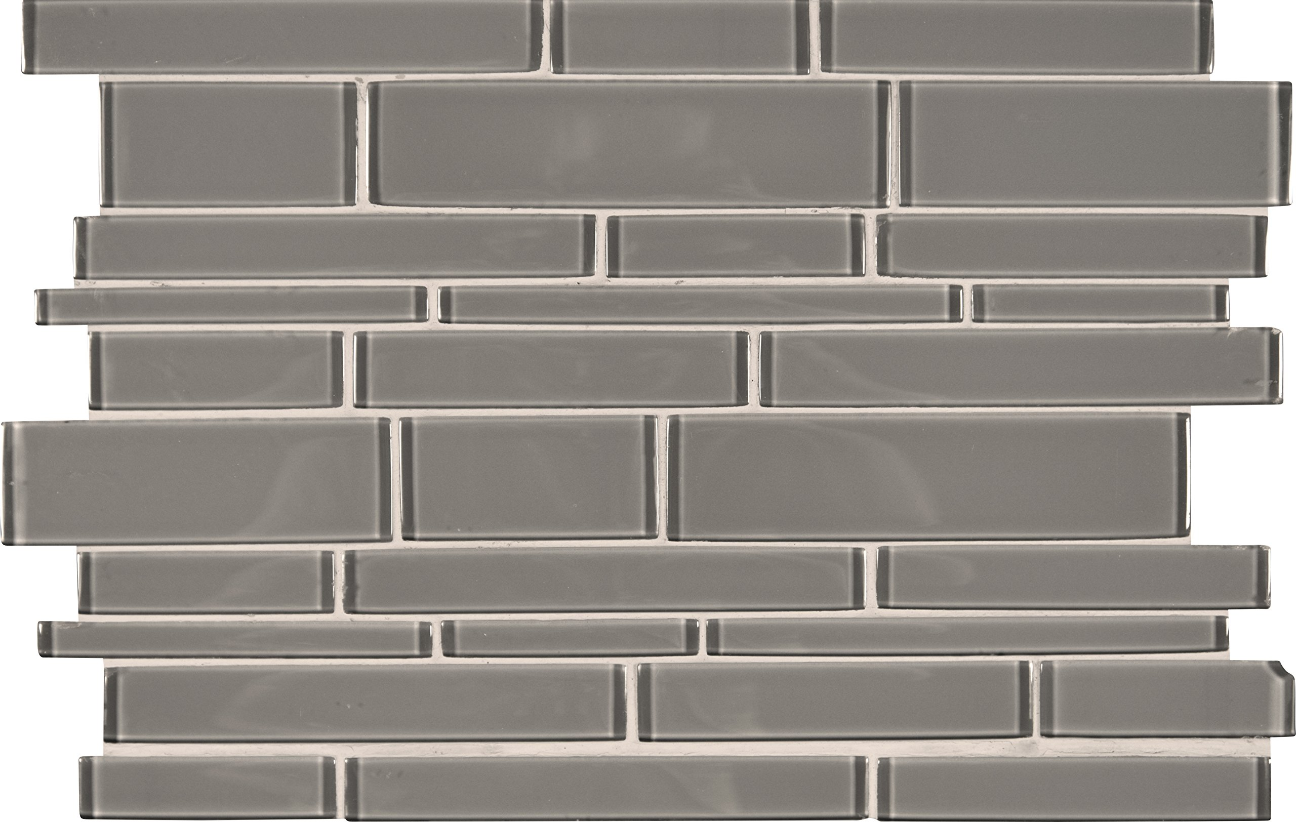 M S International Pebble Interlocking 12 In. X 18 In. X 8 mm Glass Stone Mesh-Mounted Mosaic Tile, (15 sq. ft., 10 pieces per case)