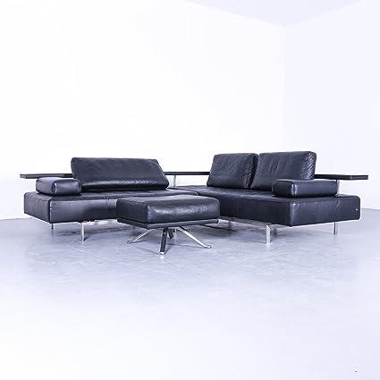 Amazon Com Rolf Benz Dono Designer Leder Eck Sofa Und Hocker