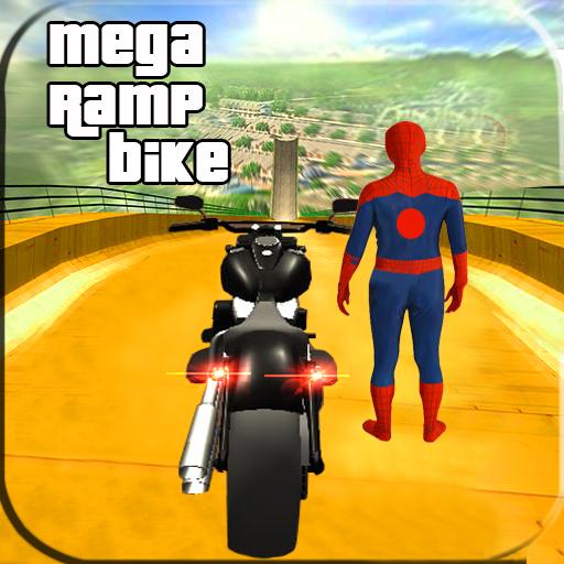 Spider Hero Impossible Mega Ramp Bike BMX Track