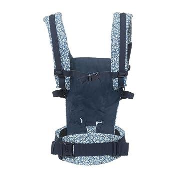 Ergobaby - Mochila Portabebes Ergonomico para Recien Nacido, 3-Posiciones, Azul (Batik Indigo)