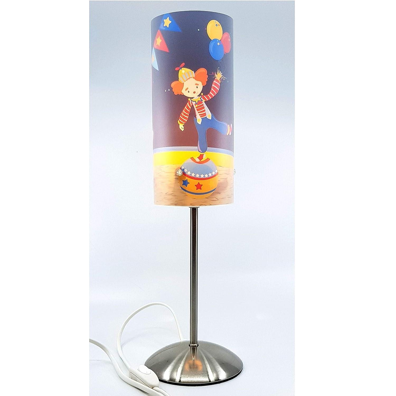 Nachttischlampe eine ideale Dekoration f/ürs Kinderzimmer E14 Lampen Motiv Herz rot Kinderlampe mit Schalter f/ür Steckdose CreaDesign Tischlampe f/ür Kinder personalisiert mit Namen