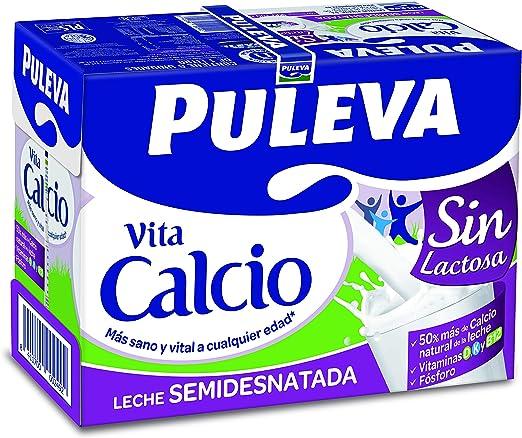 Puleva Calcio Leche Sin Lactosa Semidesnatada - Pack 6x1Lt: Amazon.es: Alimentación y bebidas