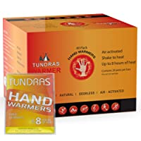 Tundras Hot Hand Warmers Natural Odorless - 40 Count - Long Lasting Safe Single...