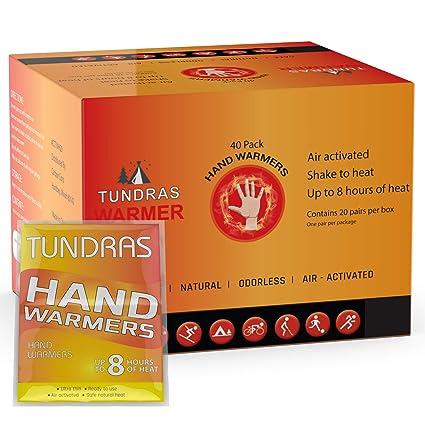 Amazon.com: Tundras - Calientamanos de mano (40 unidades ...