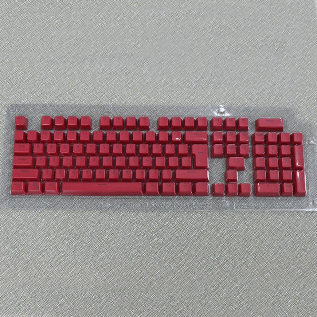 Doubleshot PBT Spacebar 104 Keycap Backlit for Cherry MX Mechanical Keyboard - White Ameesi Amesii