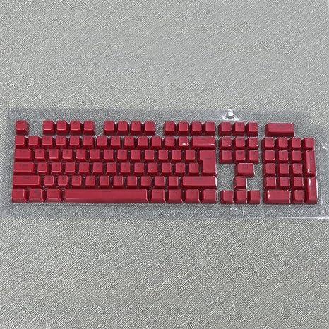Amesii - 104 teclas retroiluminadas para teclado mecánico Cherry MX con barra espaciadora de doble capa